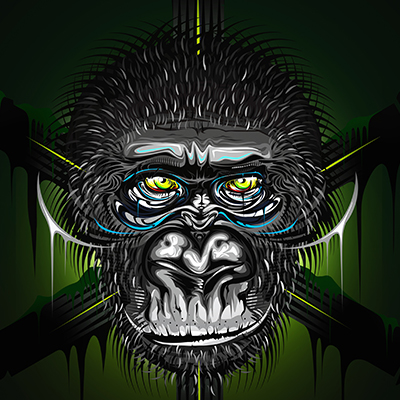 Old gorilla by enzore.pl