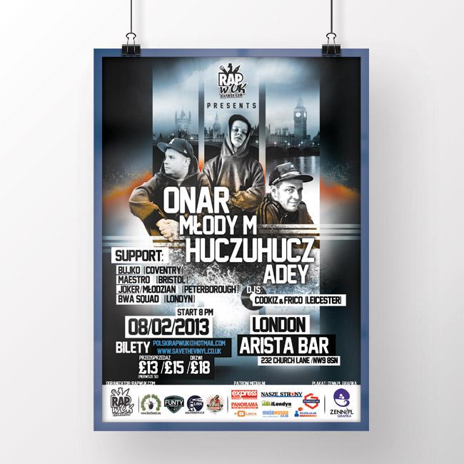 Koncert : Onar, Młody M, Huczuhucz, Addey [2013]