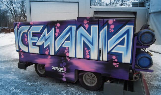 """Odmalowana rolba dla lodowiska """"Icemania"""""""
